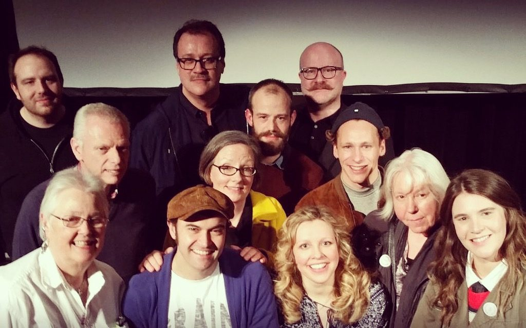 RUSSELL T DAVIES (BACK ROW, CENTRE) AND SUE SANDERS (FRONT ROW, FAR LEFT) WITH THE CAST (PHOTO NICOLAS CHINARDET)