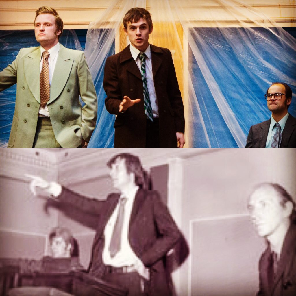 """DEAN GREGORY AS KEN PILLING, JOSEPH CARTER AS RAY GOSLING AND MICHAEL JUSTICE AS ALLAN HORSFALL IN """"THE BURNLEY BUGGERS' BALL"""""""