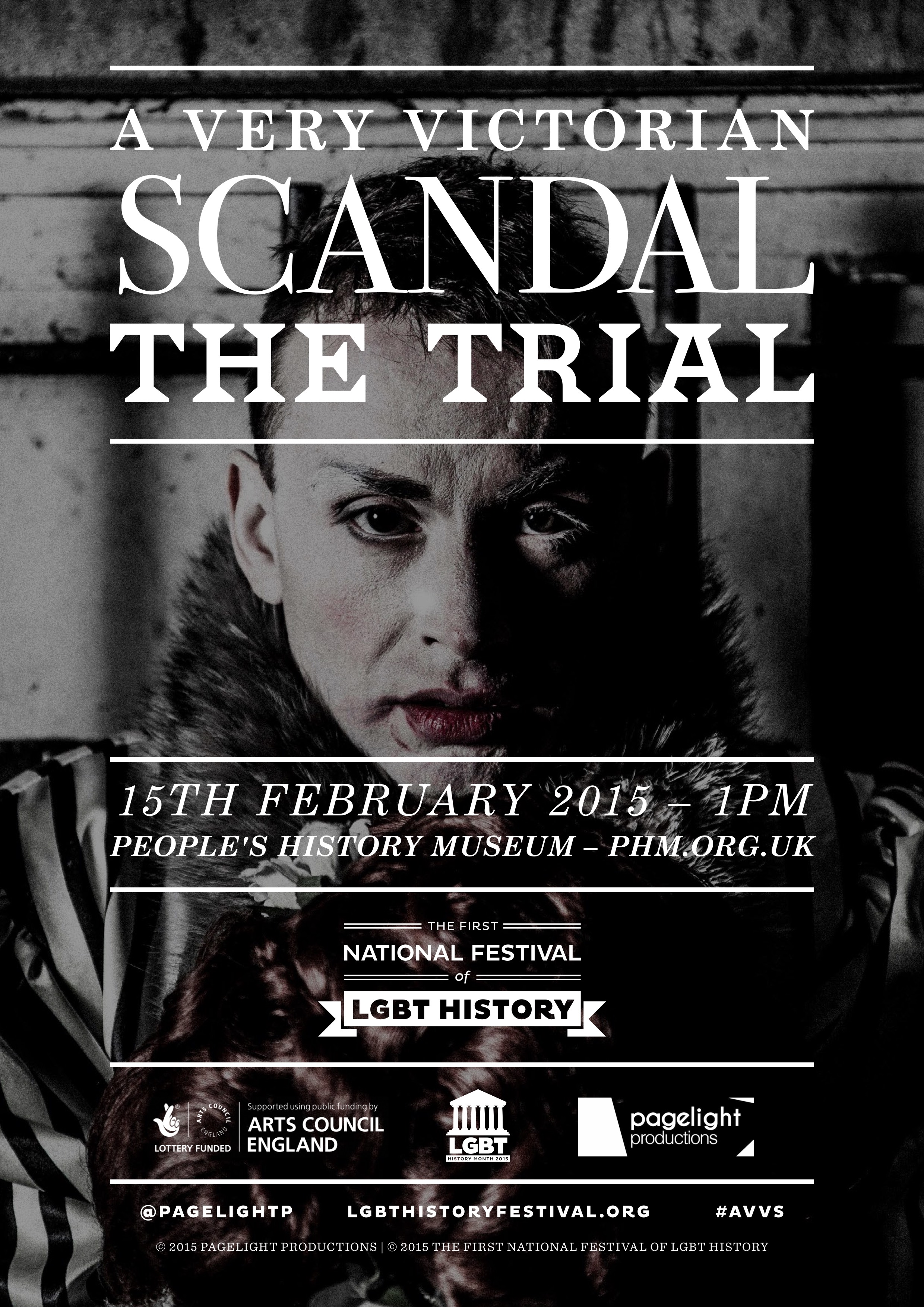 THE POSTER FOR AVVS: THE TRIAL FEATURING DAN WALLACE (PHOTO CREDIT: DANIEL MEE)