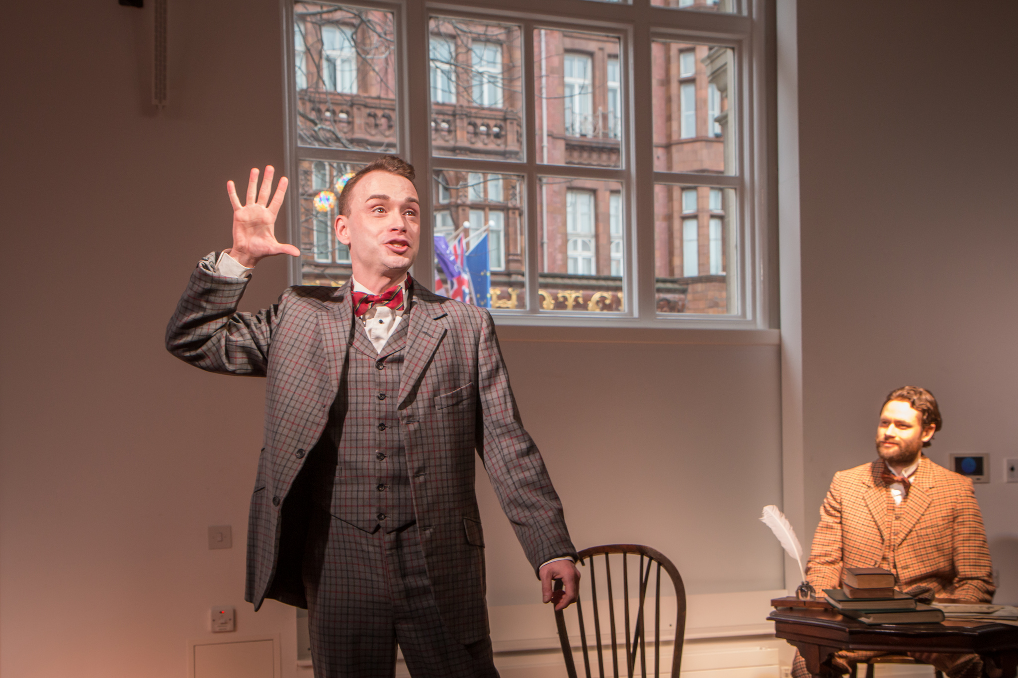 DAN WALLACE AS PARKINSON AND GARETH GEORGE AS NEWMAN (LEFT TO RIGHT)
