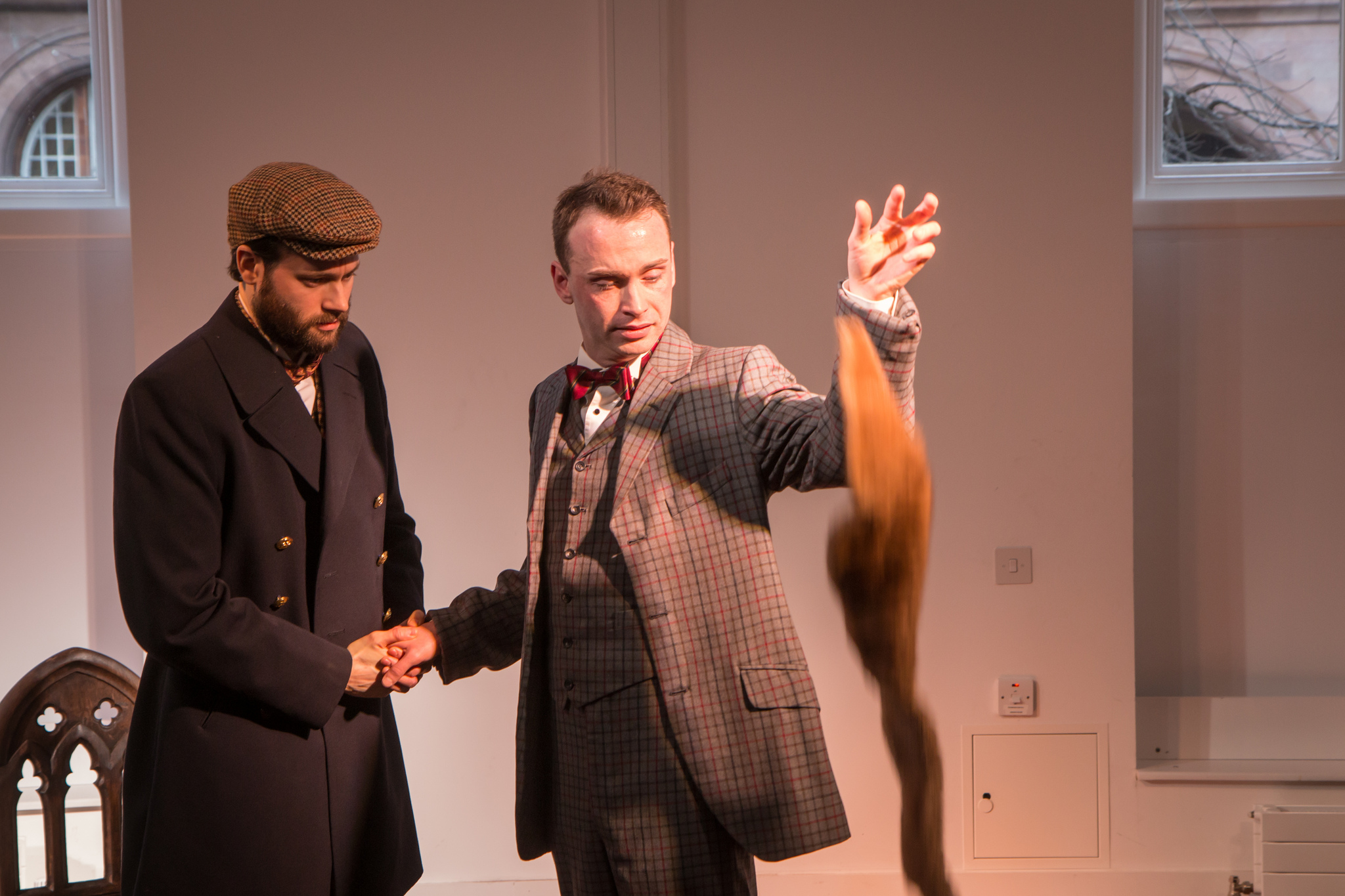 GARETH GEORGE AS NEWMAN AND DAN WALLACE AS KITTY HEARTSTONE (LEFT TO RIGHT)
