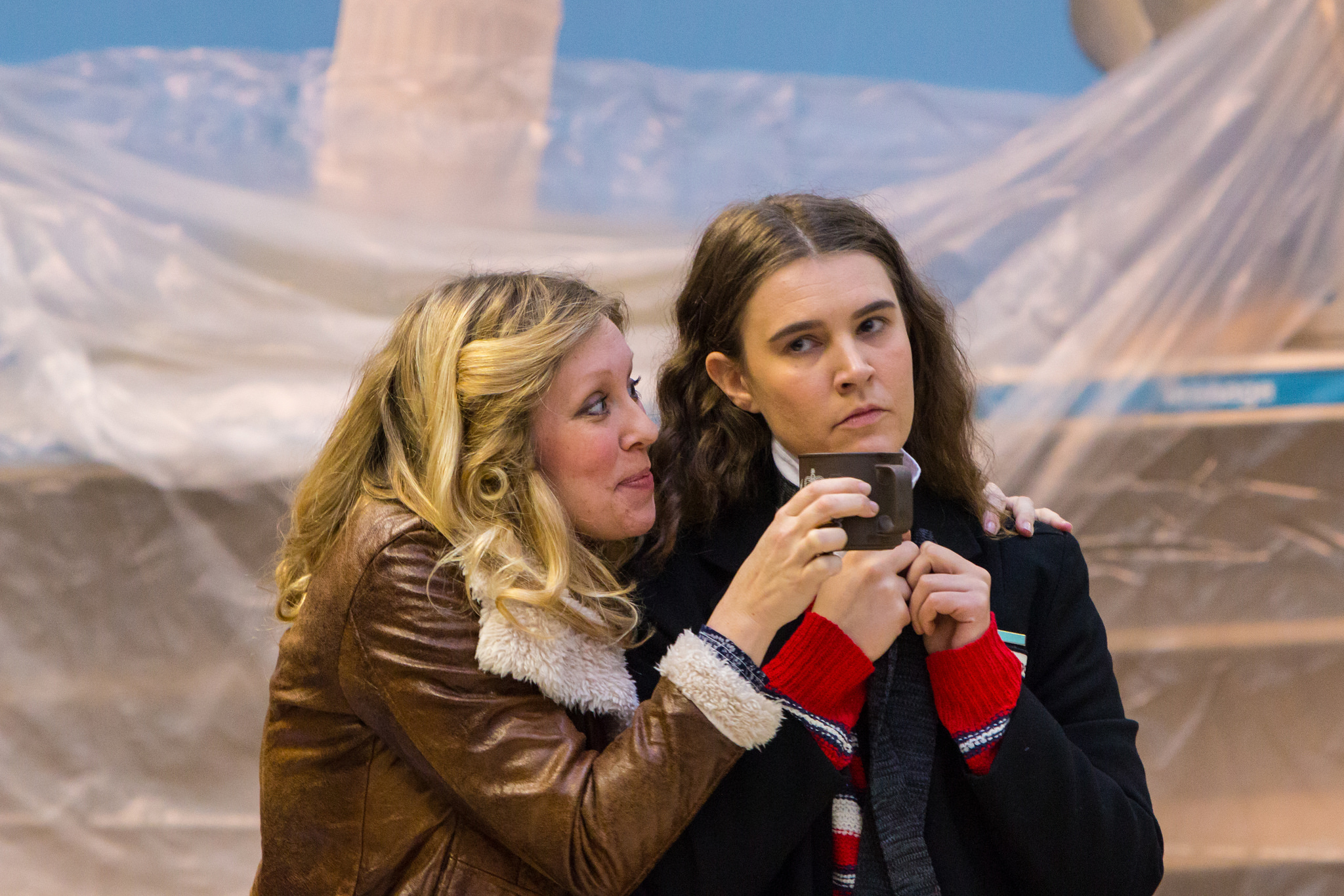 EMILY HEYWORTH AS SUSAN AND EMILY SPOWAGE AS MARY WINTER (LEFT TO RIGHT). PHOTO: NICOLAS CHINARDET