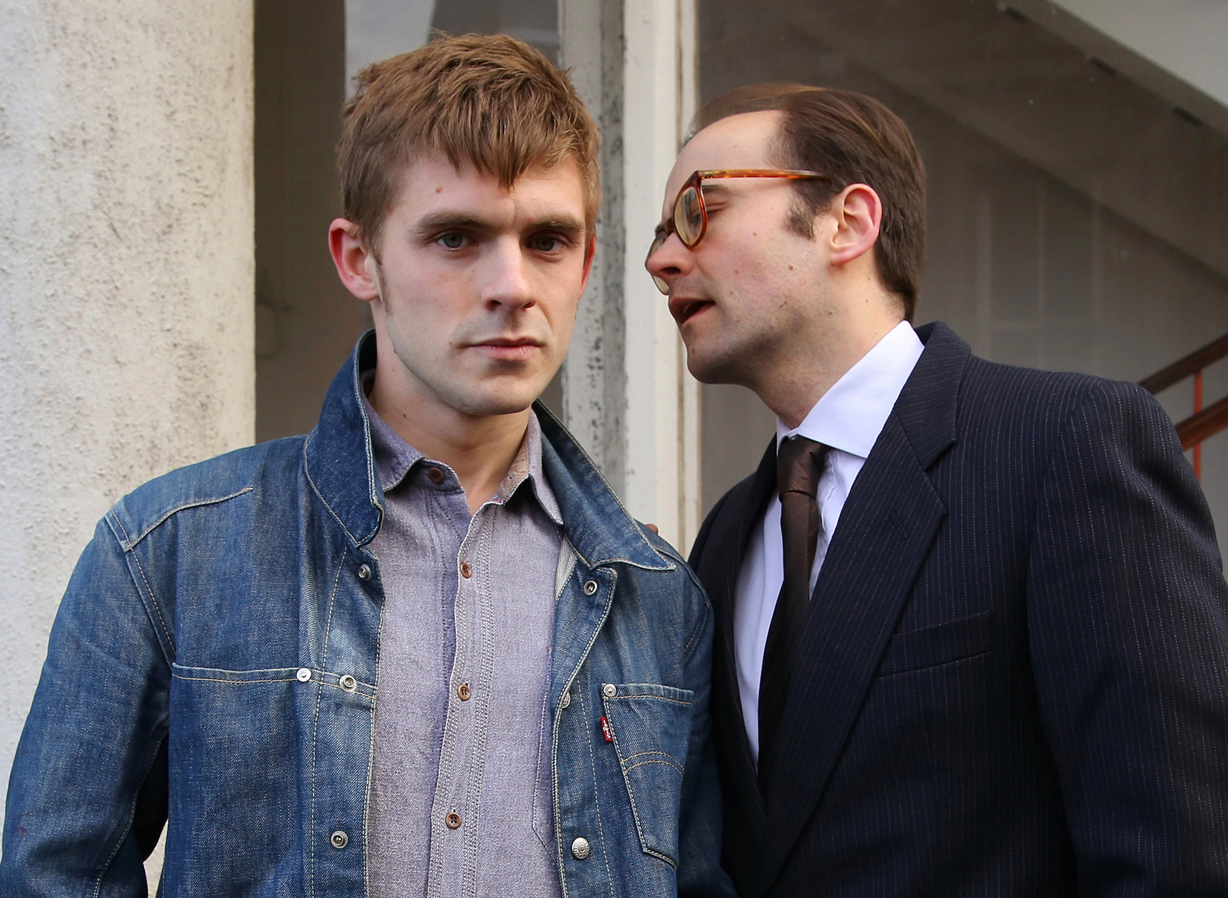 JOSEPH CARTER AS RAY GOSLING AND MICHAEL JUSTICE AS ALLAN HORSFALL (LEFT TO RIGHT). (PHOTO CREDIT SHAY ROWAN)