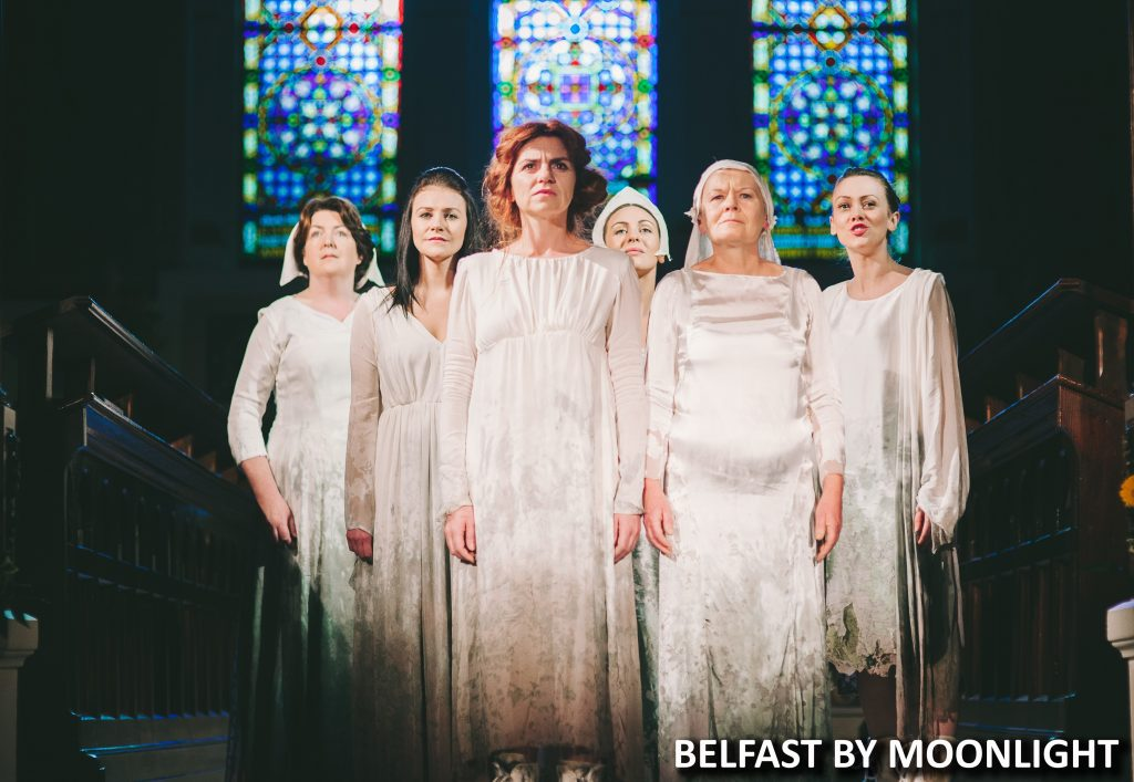 (LEFT TO RIGHT) LAURA HUGHES, KERRI QUINN, MARIA CONNOLLY, ROISIN GALLAGHER, CAROL MOORE AND BEENADETTE BROWN