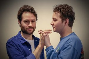 IN REHEARSAL: GARETH GEORGE AS DR JOHNSTON. CONOR LEDGER AS WALLACE