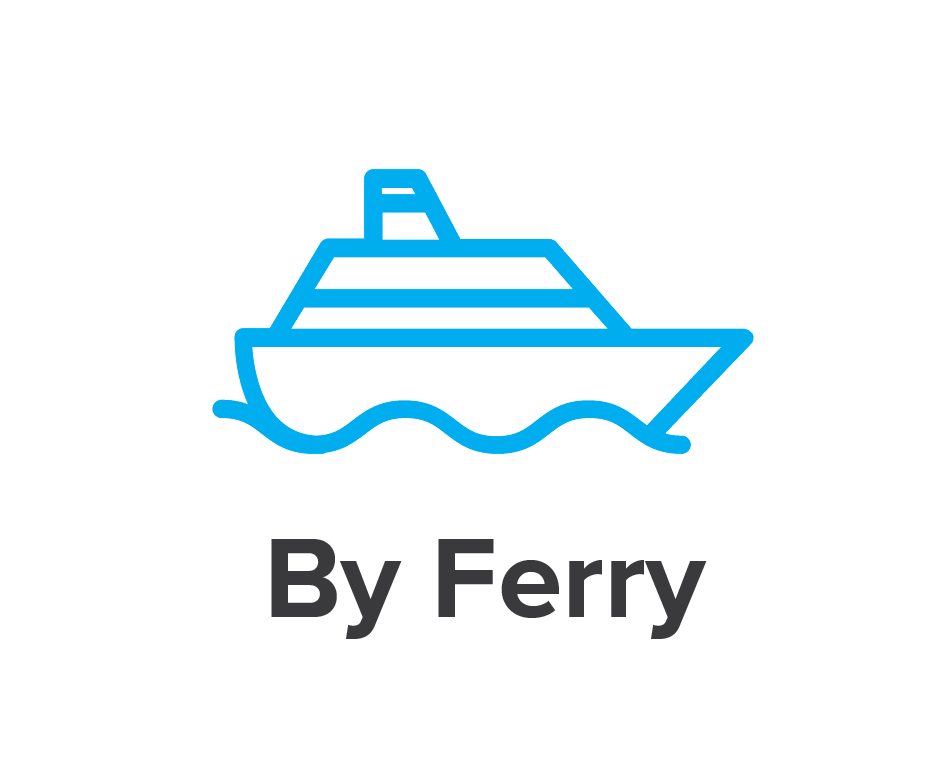 by ferry