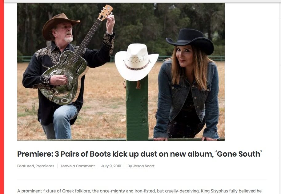 "Bsides and Badlands premieres Gone South (album) - ""In total, Gone South is drenched in the holy spirit of classic country. It's 12 songs of astonishing songcraft: relentless yet astonishingly fragile, bold yet familiar, light yet massive."""