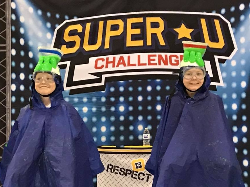 Super U Challenge - The Michigan School Assembly With Slime