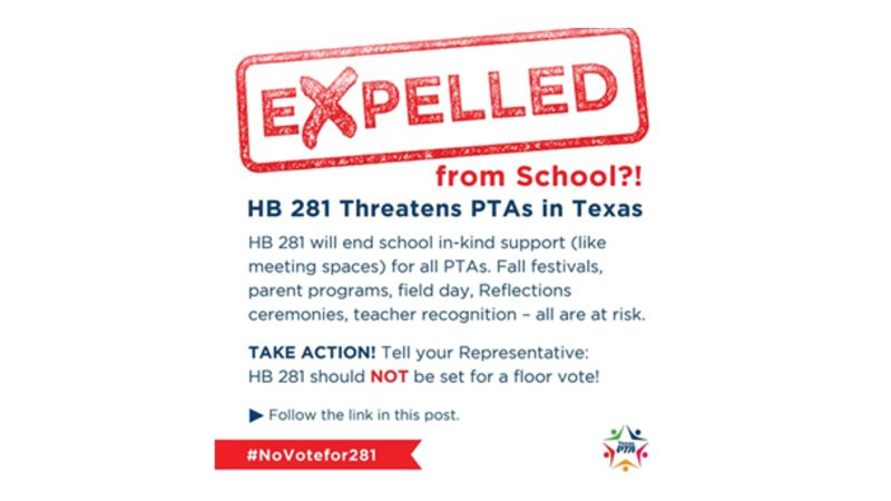 HB 281 Threatens PTAs in Texas