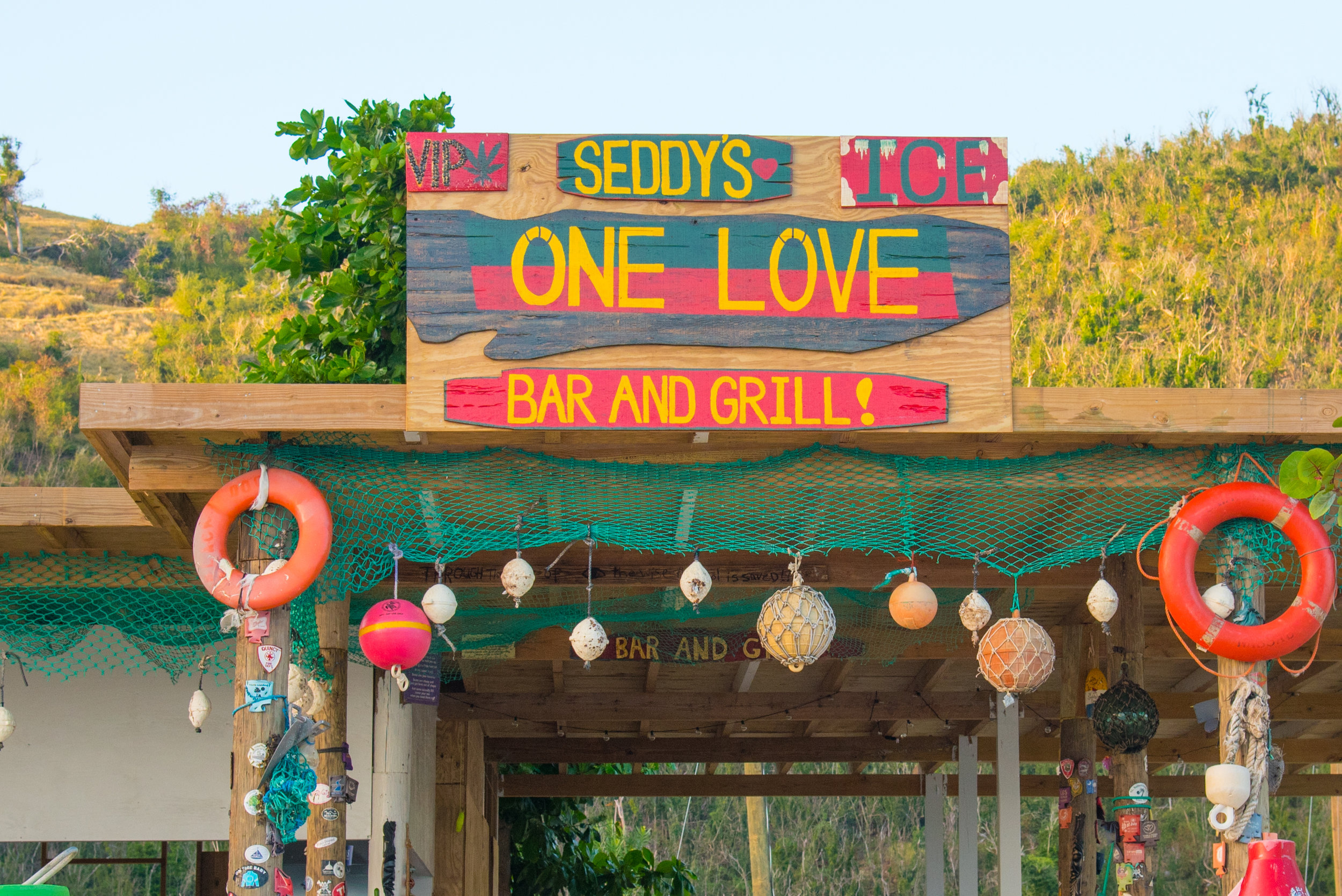One Love Bar & Grill - Just steps down White Bay beach from the Soggy Dollar Bar, Seddy Callwood's One Love Bar and Grill offers delicious drinks, friendly staff, and fresh-caught seafood. Our guests rave about the lobster dishes and the Bushwhackers and we concur! If you catch Seddy around, you might be surprised with a few magic tricks. It's a great place to relax in a somewhat quieter area of the beach. Visit the One Love site to learn more.