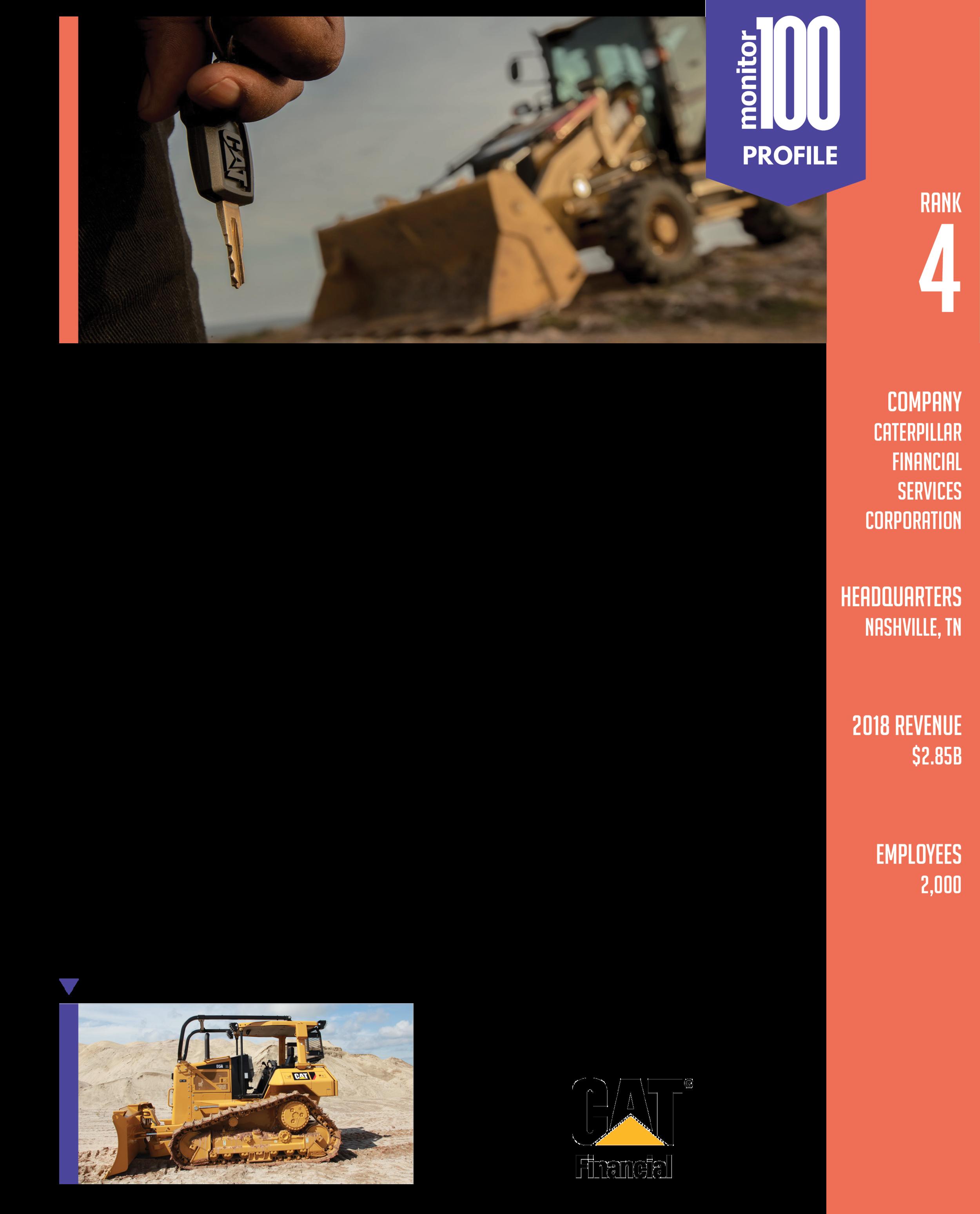 cat-equipment-finance monitor 100 profile