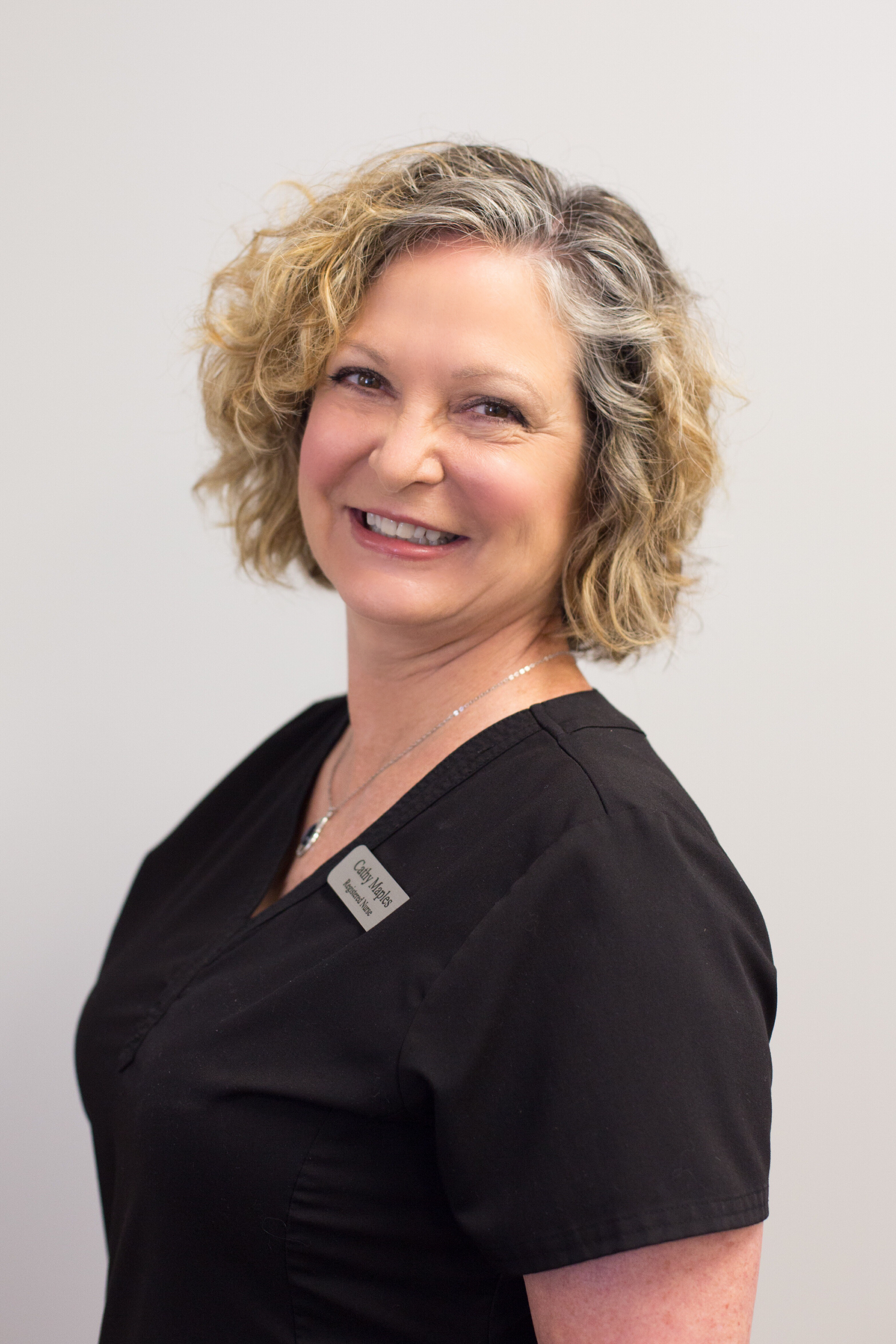 Cathy Maples   Cathy is one of our recovery room nurses who will assist you in the immediate recovery period. Cathy has many years of experience in recovering cosmetic surgery patients and will be caring for you immediately after your surgery to ensure you are comfortable before you are discharged.