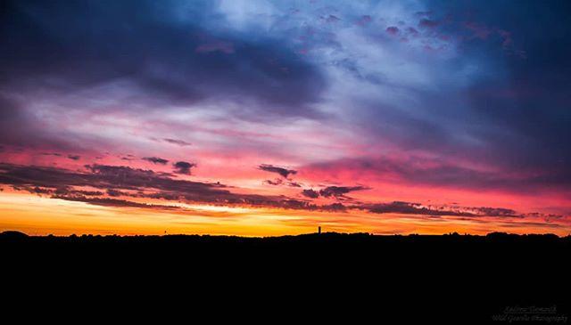 Dawn across Cleadon Hills. #Dawn #CleadonHills #CleadonWaterTower #CleadonVillage