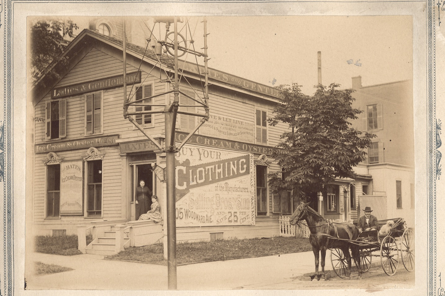 """There were almost 100 businesses owned by black people in Detroit prior to the Civil War. A black man was the first to own and operate an Ice Cream Polar which was located on Bates Street in the 1860's Bates Street which was home to many minority businesses was """"gentrified"""" in the 1970's to make way for the I-75 freeway."""