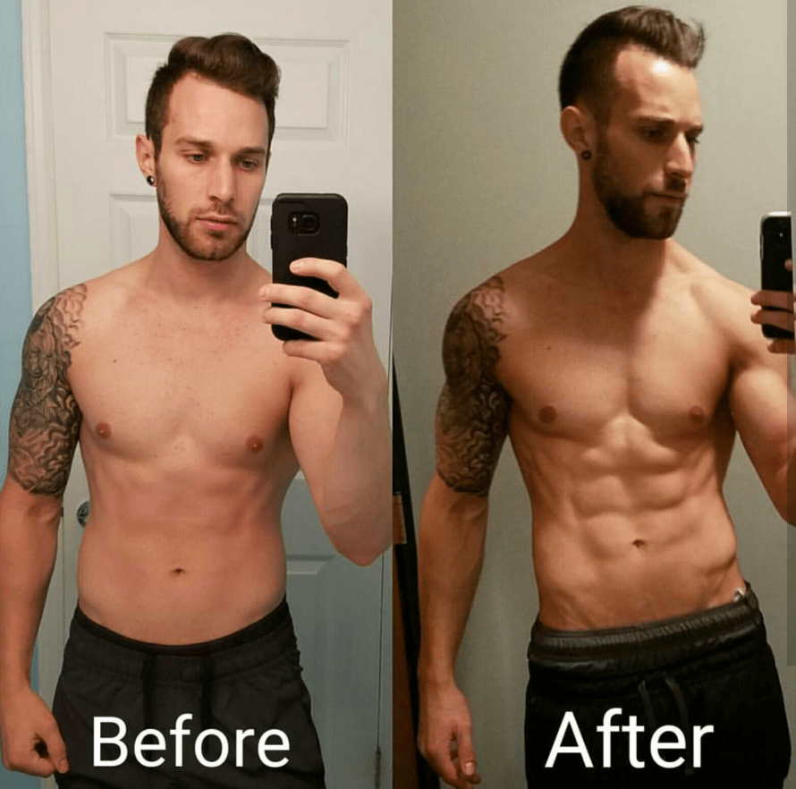 before and after 12 week diet