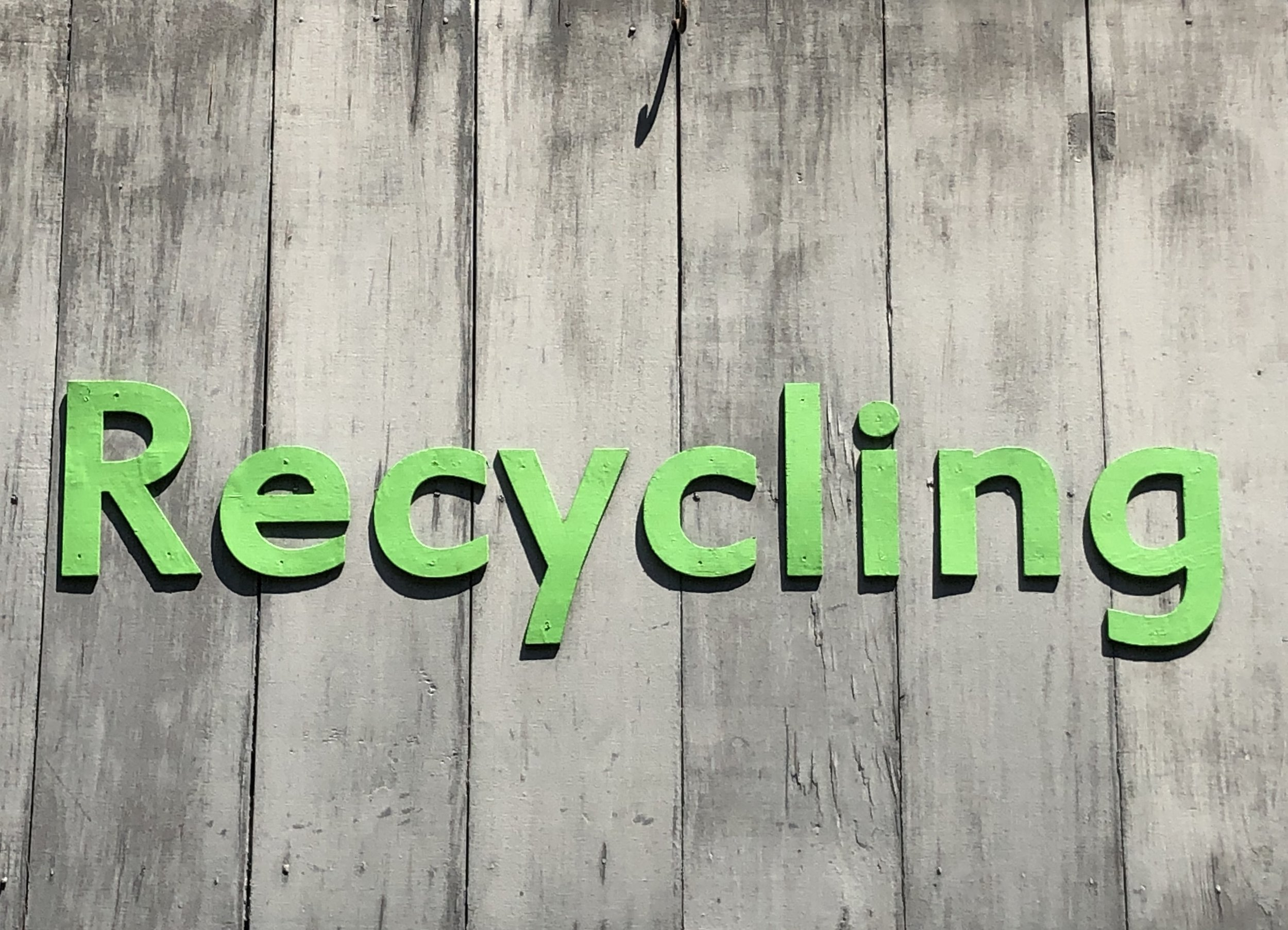 reducing and reusing, too