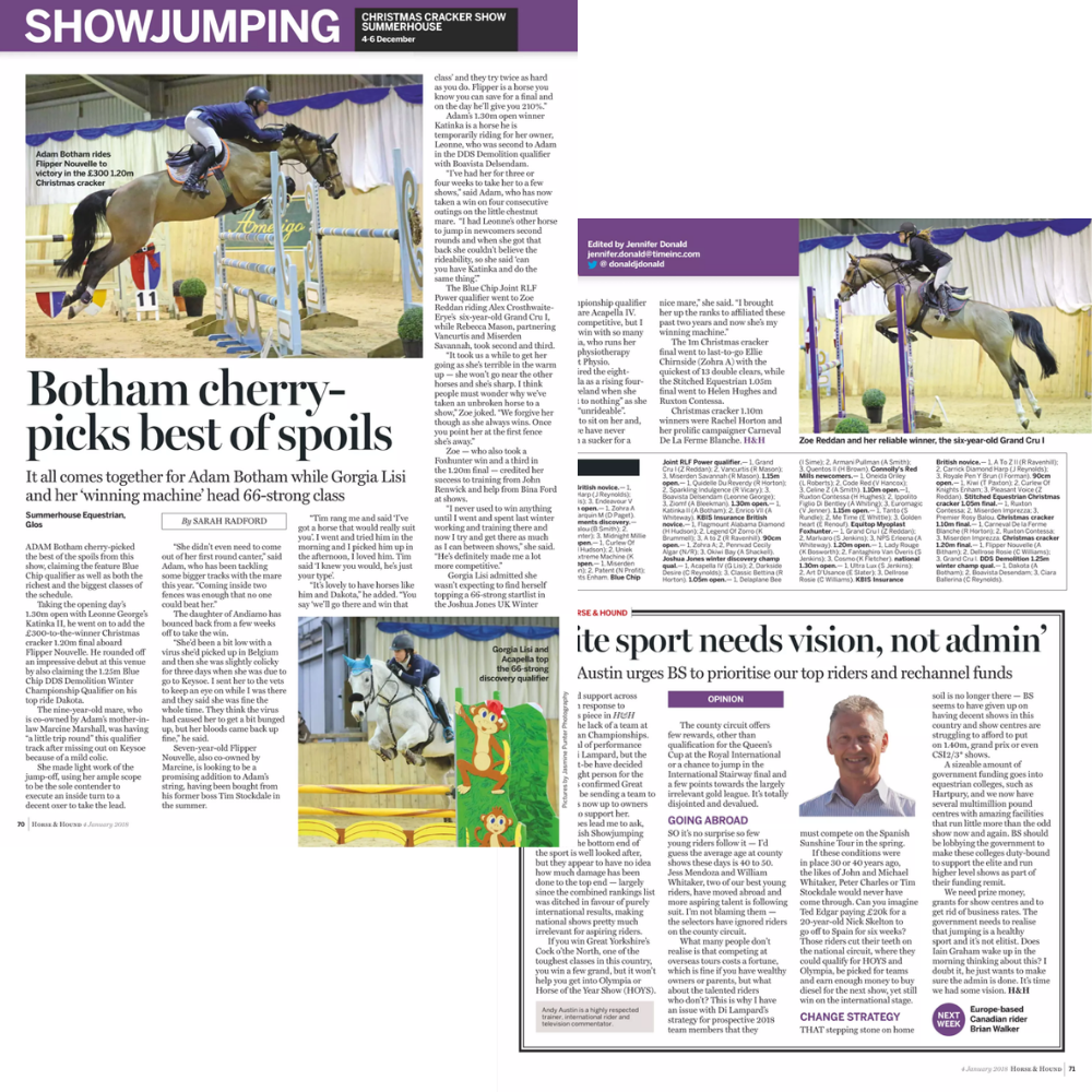 Coverage -  Horse & Hound