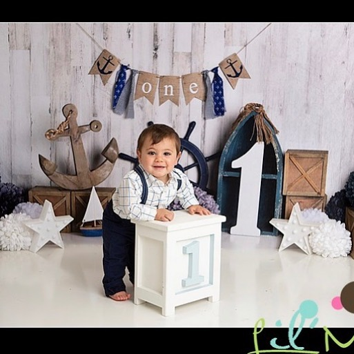 Another adorable baby boy on a fun new setup! #lilmephotography  #firstbirthday #one #babyphotography