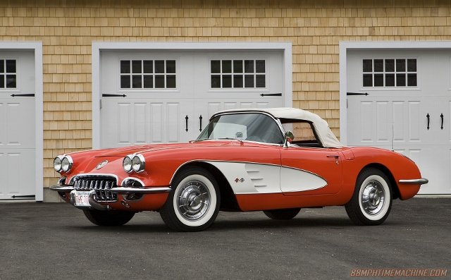 Bill's 1958 Corvette he has owned since 1980