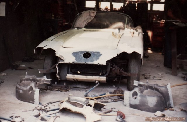 Day 1 in the body shop, 1981