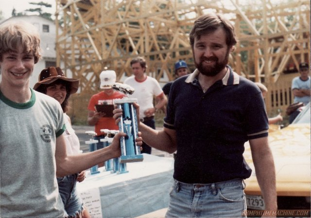 Patrick, left and Bill at First Car Show, Whalom Park, Lunenburg, MA 1982