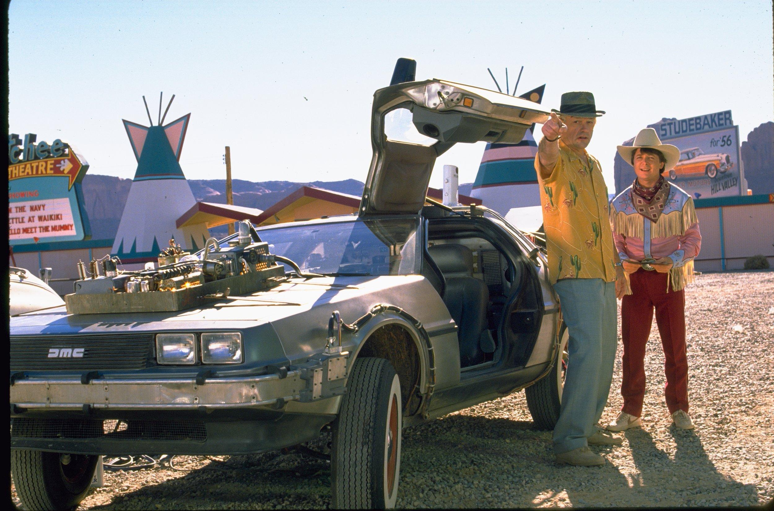 BTTF III DeLorean on Set 1.JPG