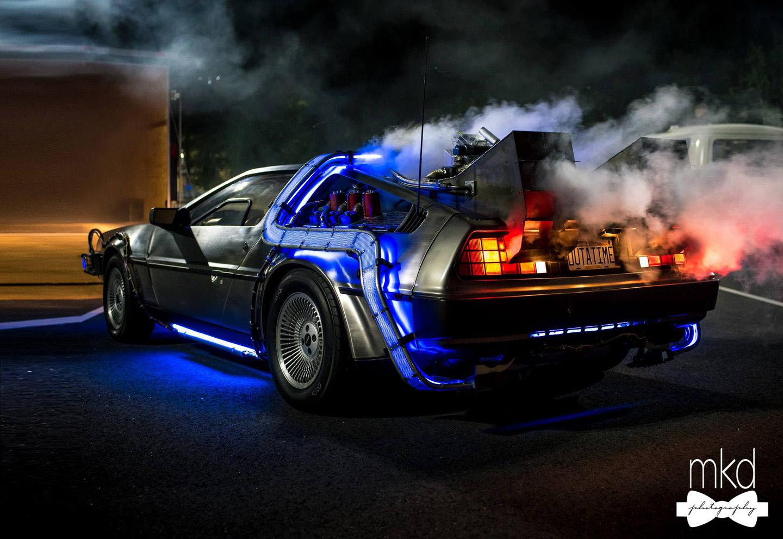 DeLorean Time Machine at Night-1 (1).jpg