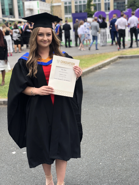 First Copy's Alice Ryan picks up her degree