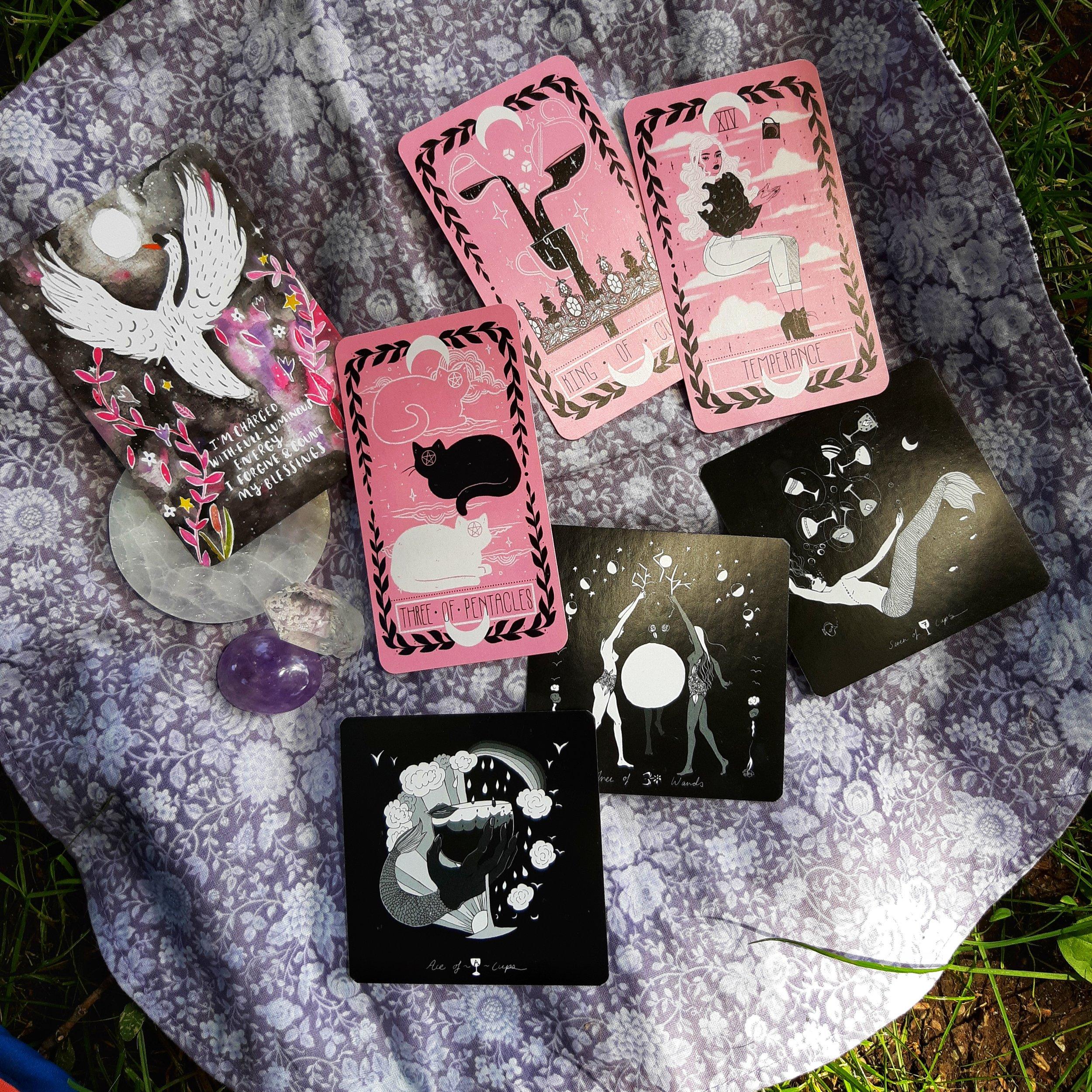 Dark Days Tarot and Lovely Omens Tarot