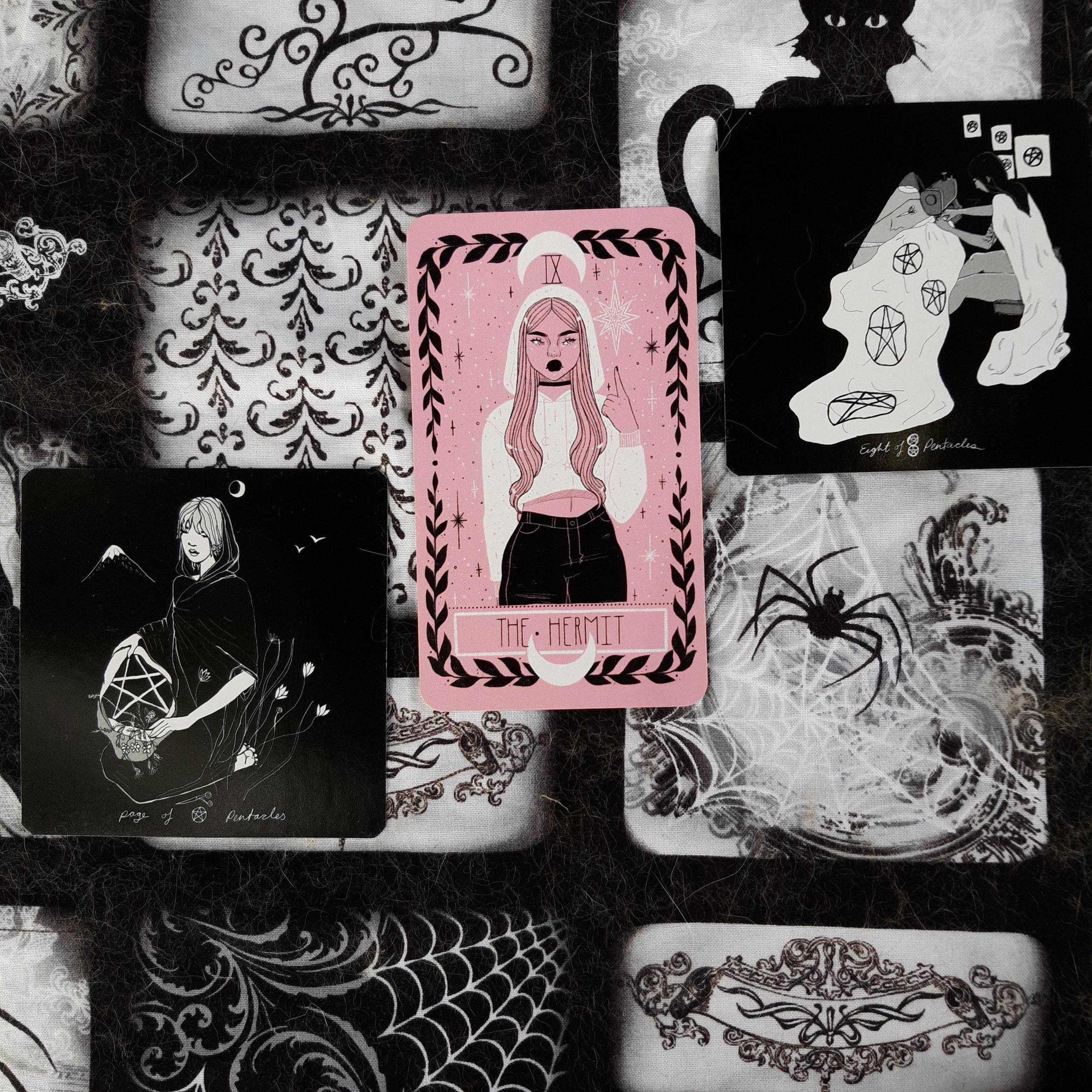 The Lovely Omens Tarot and the Dark Days Tarot