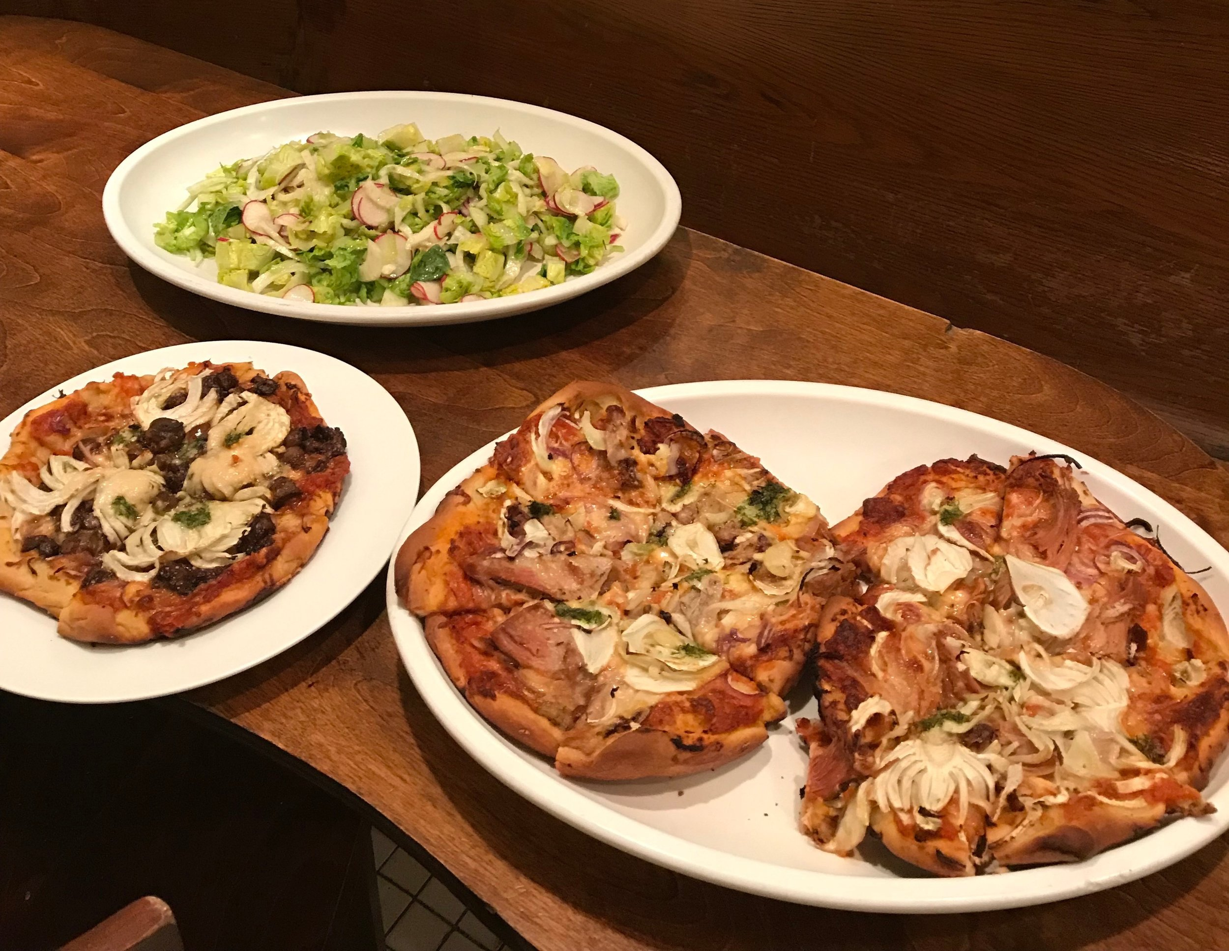 fennel + braised veal sourdough pizza/ family meal @ prune/ new york, ny  -