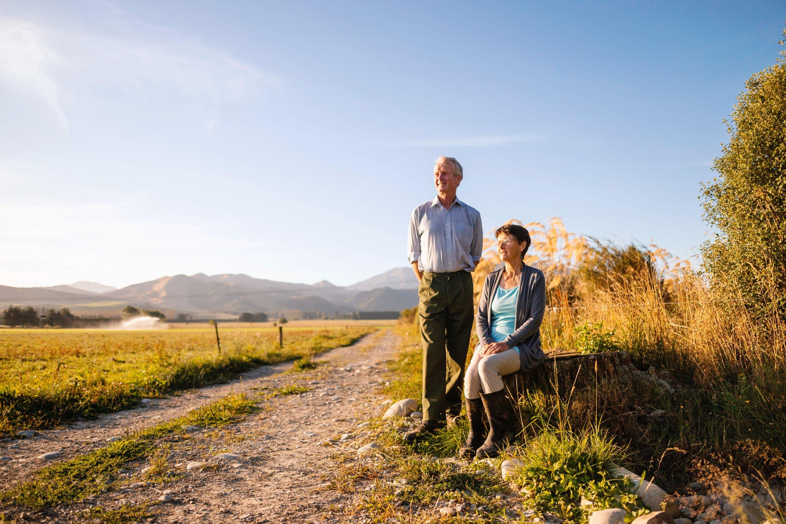 Bryan and Jackie Clearwater and Mt Peel.jpg