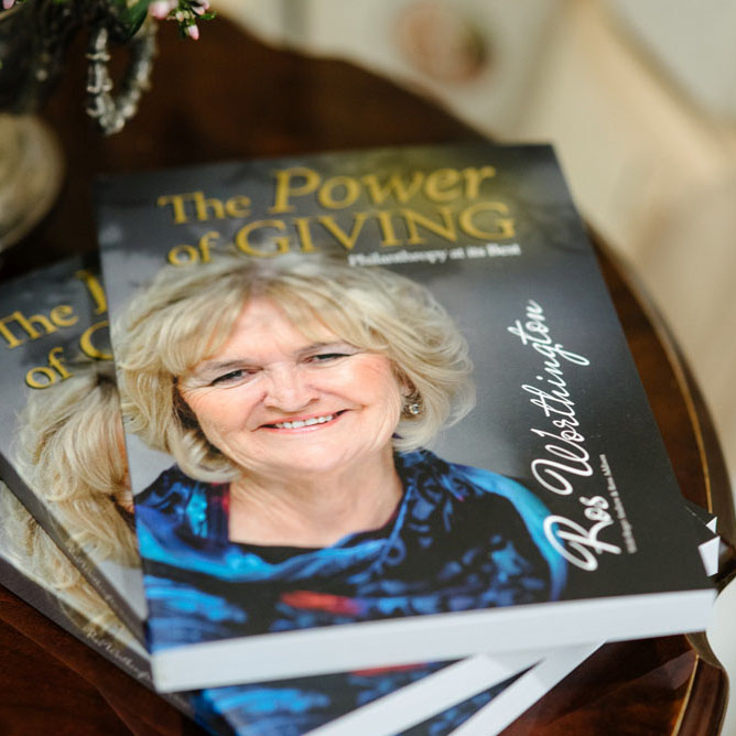 THE POWER OF GIVING - A catalyst for change!From battler to celebrated philanthropist, Ros Worthington OAM, certainly has led a varied and challenging life. Hers is a story worthy of sharing and that's just what she has done with the release of her new self-published book.
