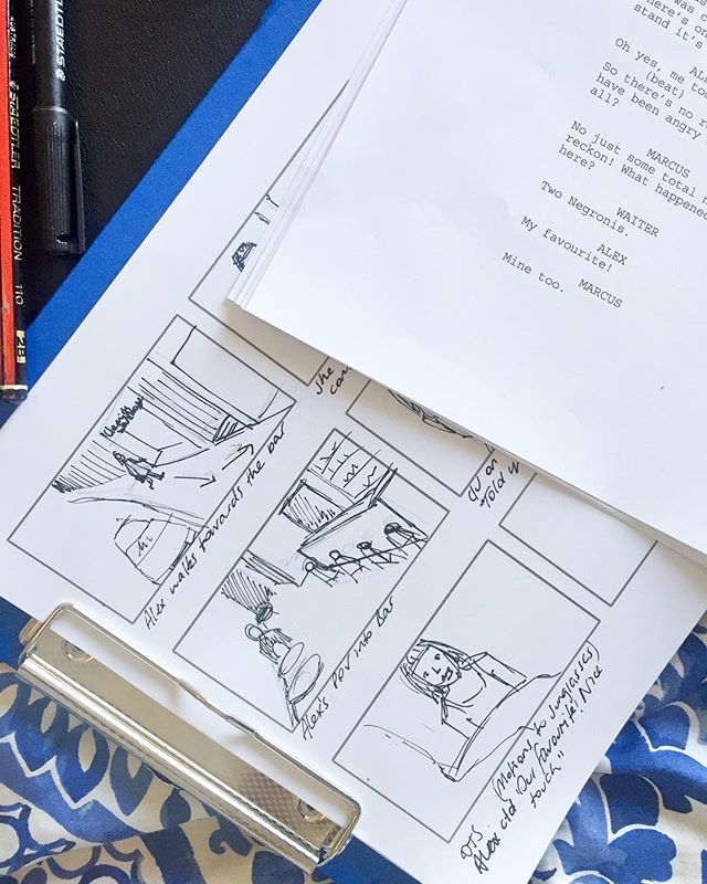 Here's a little behind-behind the scenes #throwback peek of pre production storyboards on The Wave by writer/director @alicia__rose__ 🖊 Nothing like good old fashioned pen and paper! As they say, it's all in the prep... And then you realise due to lighting and schedule restrictions you need to shoot from a different direction, you've now only got 4 hours on this location, and it's much easier to make fake Gin & Tonics rather than Negronis 😉 But other than that we actually managed to stick pretty closely to the original storyboards and script!  If you want to take a peek just click on the link in bio to watch The Wave on Amazon Prime Video 👀