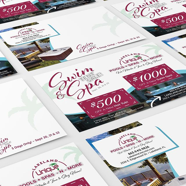 Postcards are still in, especially if they catch attention as soon as they're pulled out of the mailbox. Running a big sale? Let's design and print something lovely! #graphicdesign #graphicdesigner #printdesign #marketing #promotion #businessowner #businesswoman #businessdesign #branding