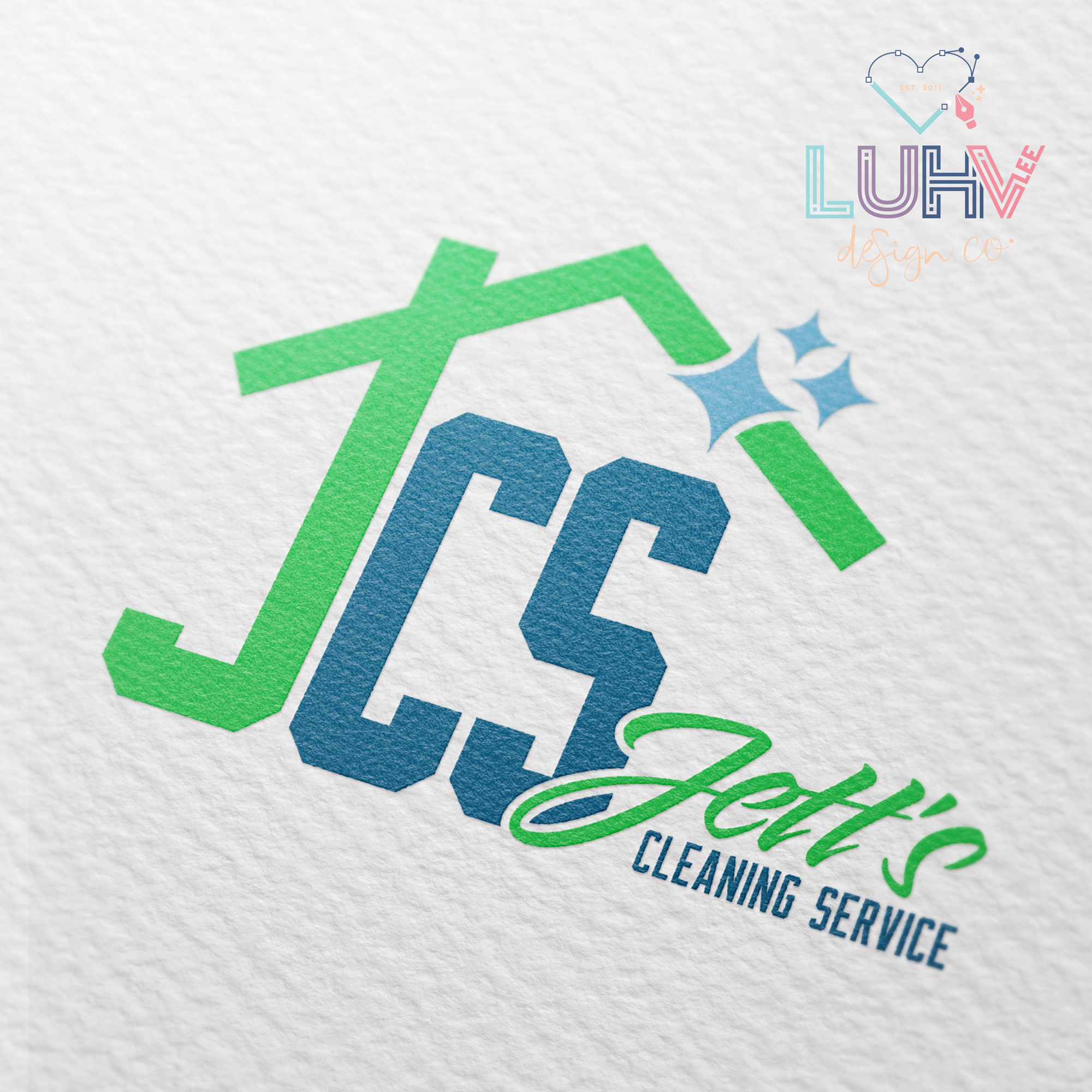Jett's Cleaning Service Logo Design