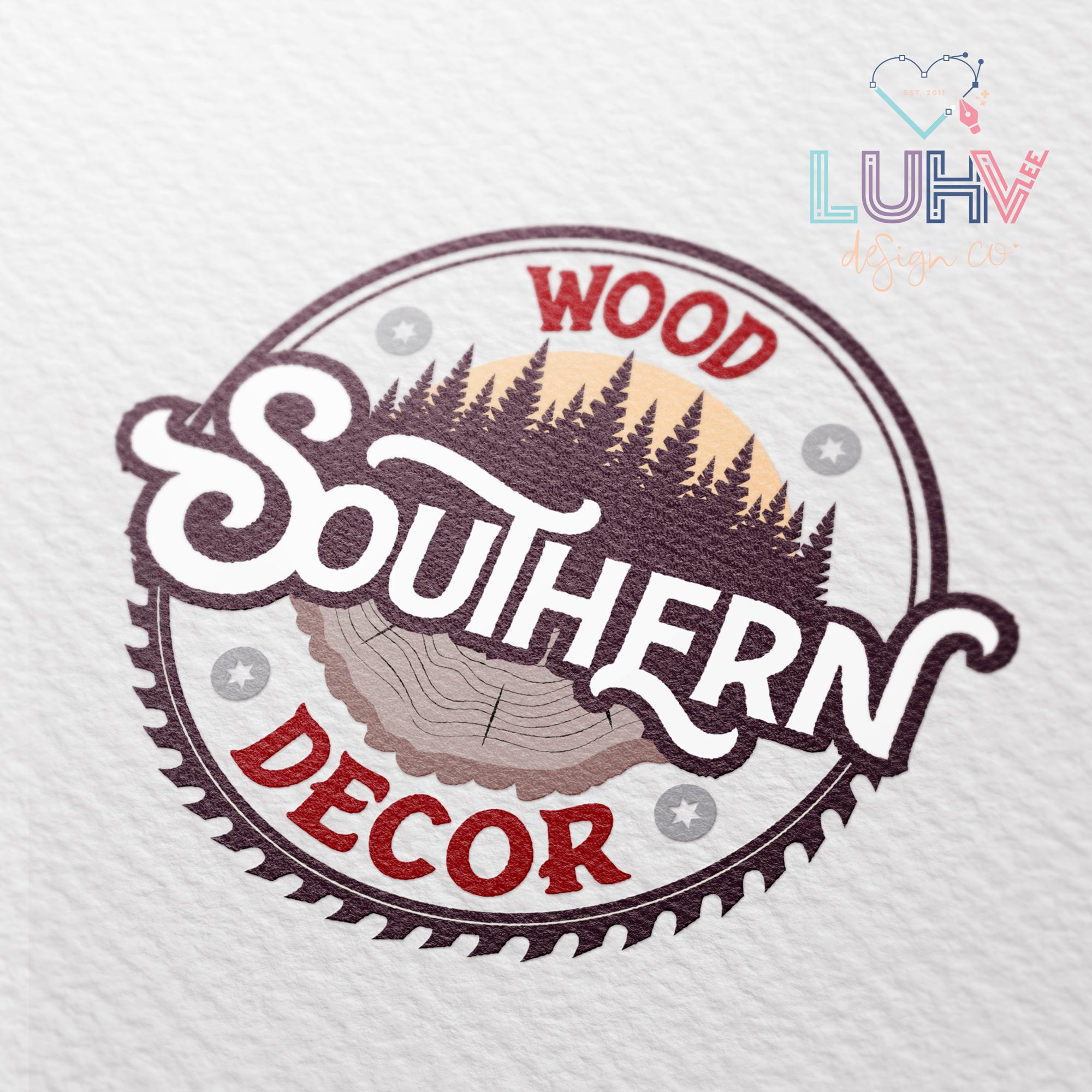 Southern Wood Decor Logo Design