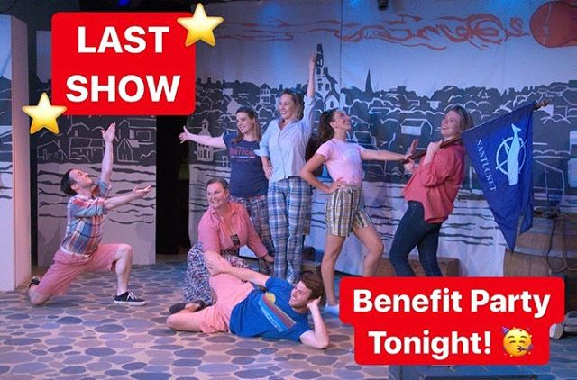 It's our LAST SHOW TONIGHT!! ⭐️ 6:00 pm join us at 2 Centre Street for our final performance, and then party with us on the rooftop of the whaling museum to benefit @ackhistory! 🥳 Ticket link in bio - SEE YOU THERE!! • #Nantucket #NantucketTheMusACKal #ACK #ThingsToDoOnNantucket #MakeNantucketGreyAgain #Summer #LDW #Party