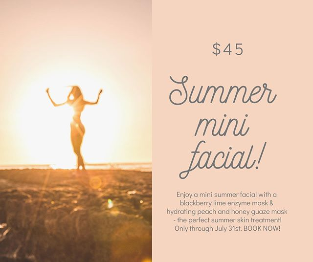 Get in on this goodness while you can 🤩 now through the end of July- Mini summer Facial. Your skin will thank you 🙏🏼 🌱 . . . #bendoregon #desertbeautybend #bendskincare #bendfacials #holisticesthetician #summerskincare #sorellaapothecary