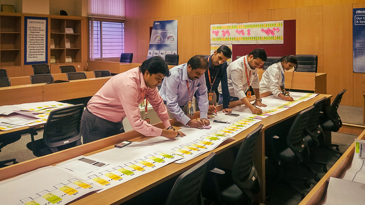 A Value Stream Mapping exercise in progress at Hical …