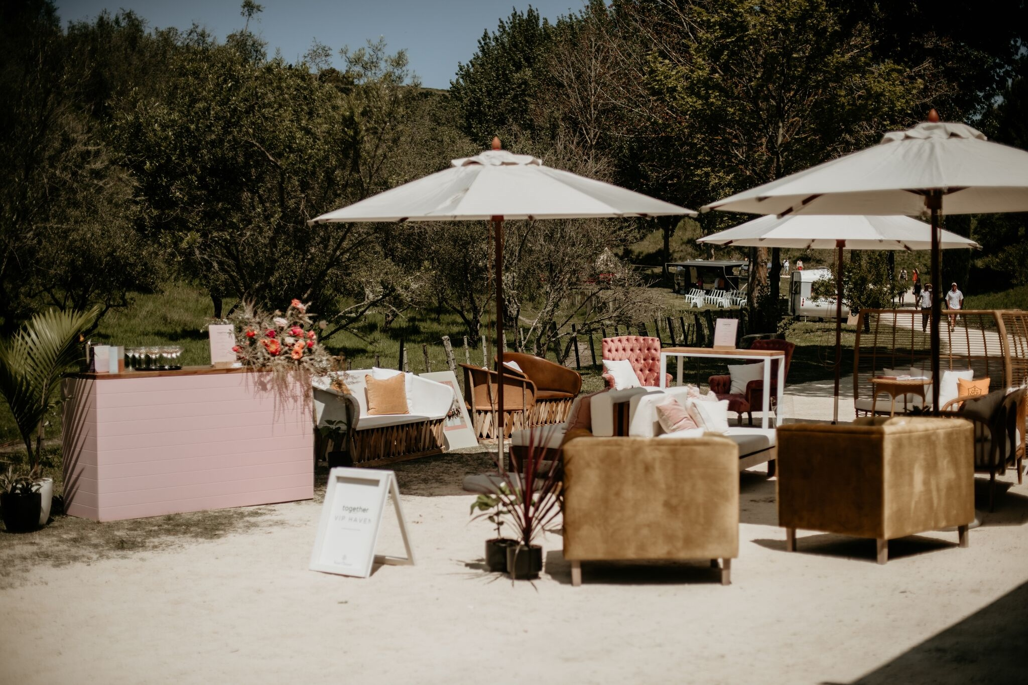 VIP Lounge for Together Journal - VIP Haven for guests attending Wild Hearts Wedding Fair.