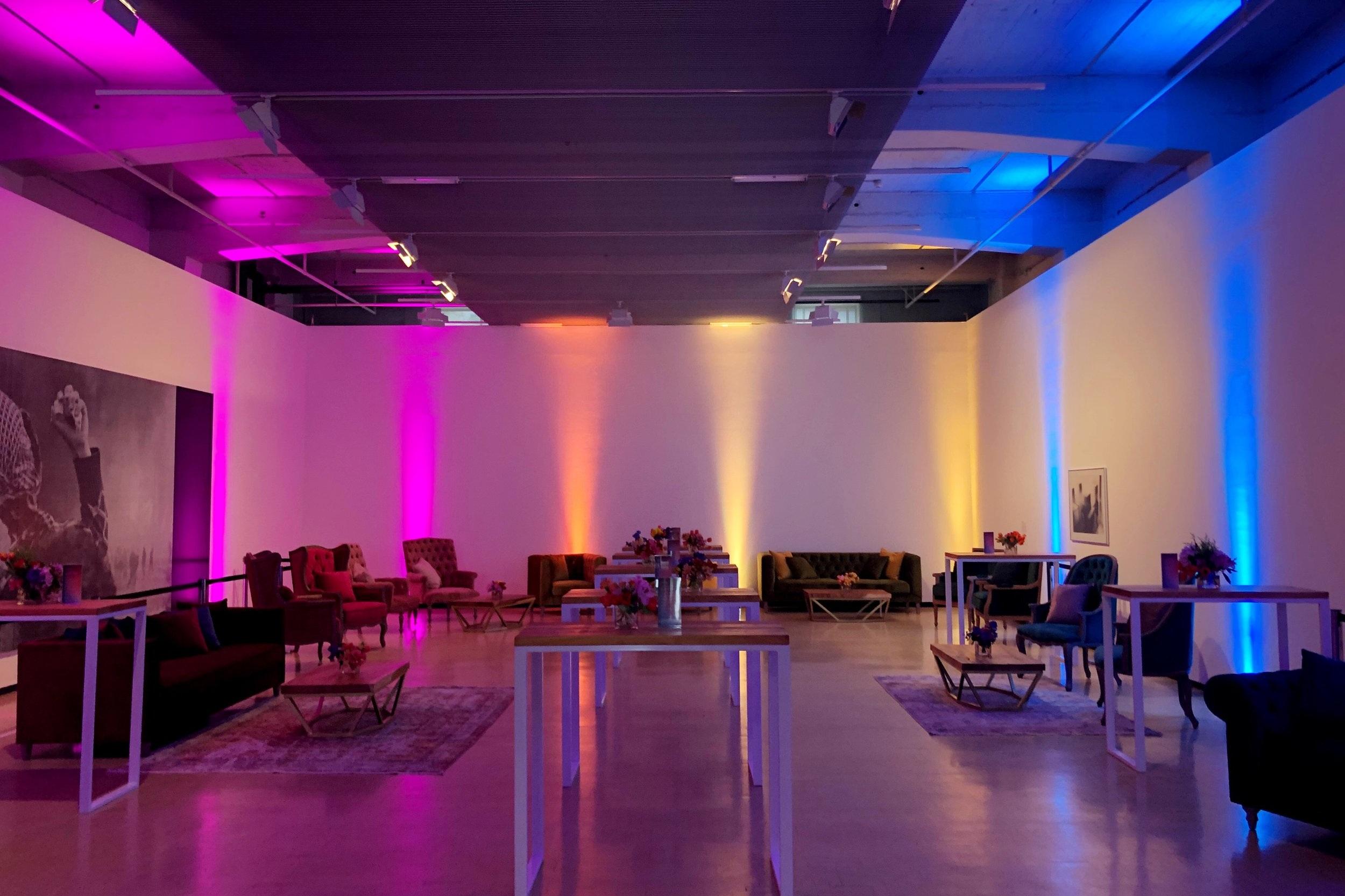 Chorus Brand Launch - Spectrum lounging for new Chorus branding - Wellington Art Gallery.