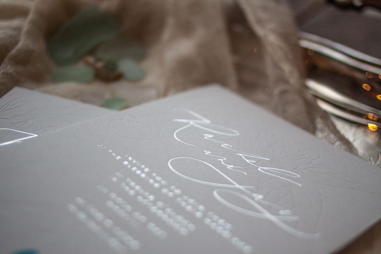 Hot foil invitations