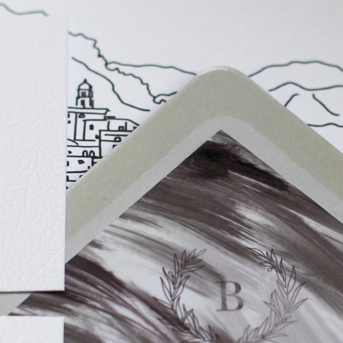 Branded envelope liners