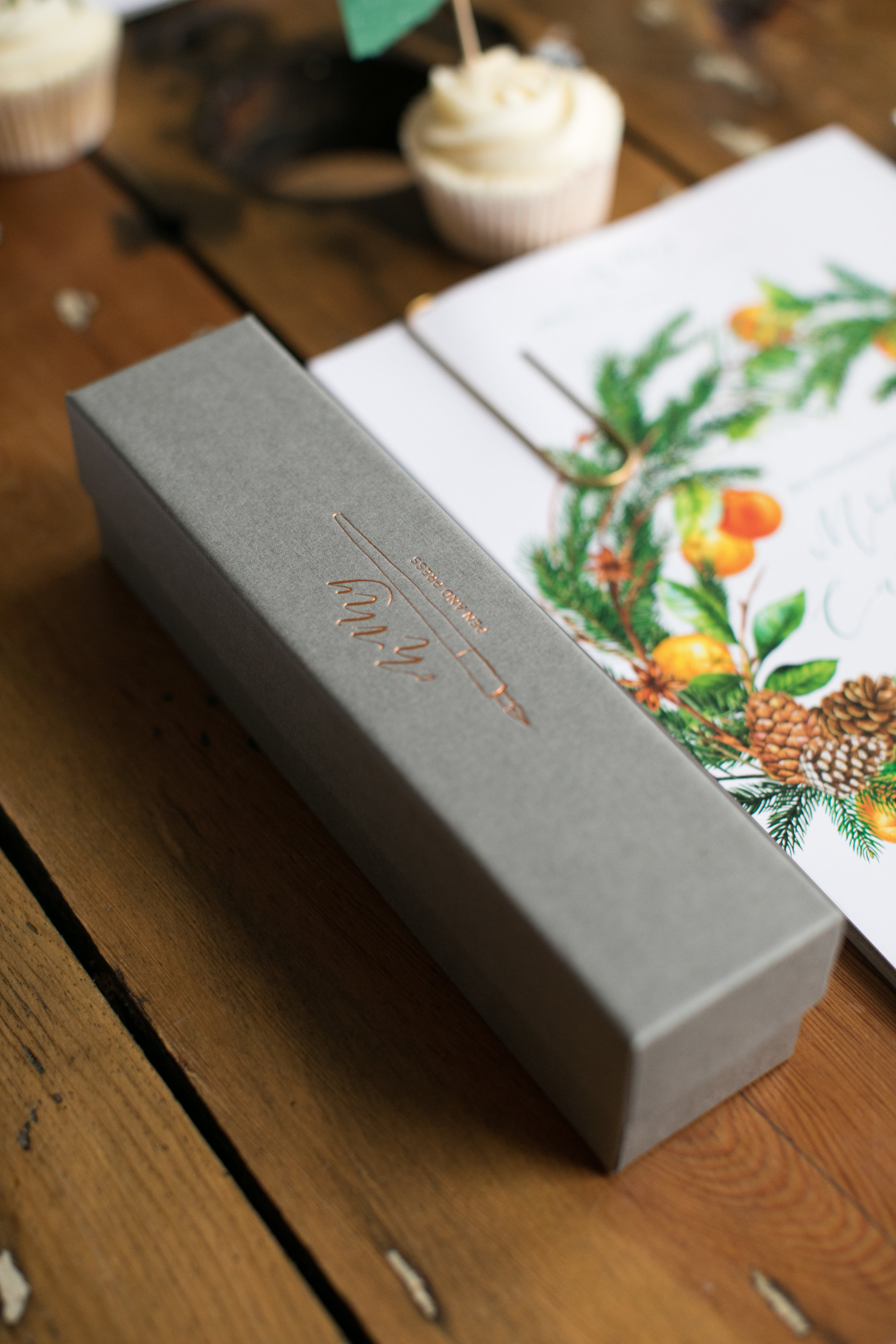 Hot foil branded boxes