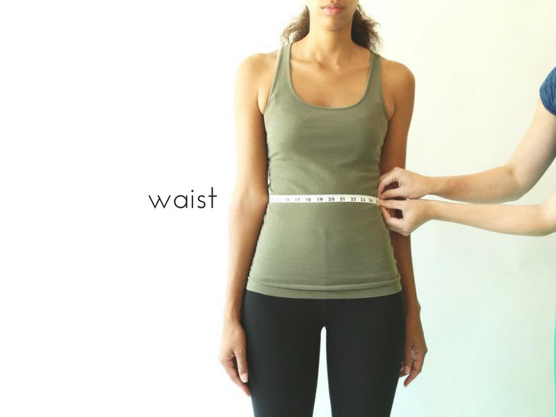 how to measure the waist