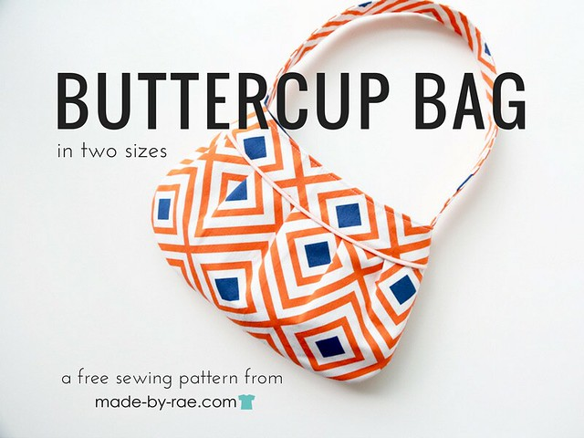 """Buttercup Bag"" Free Tote Bag Pattern designed by Rae from Made-By-Rae"