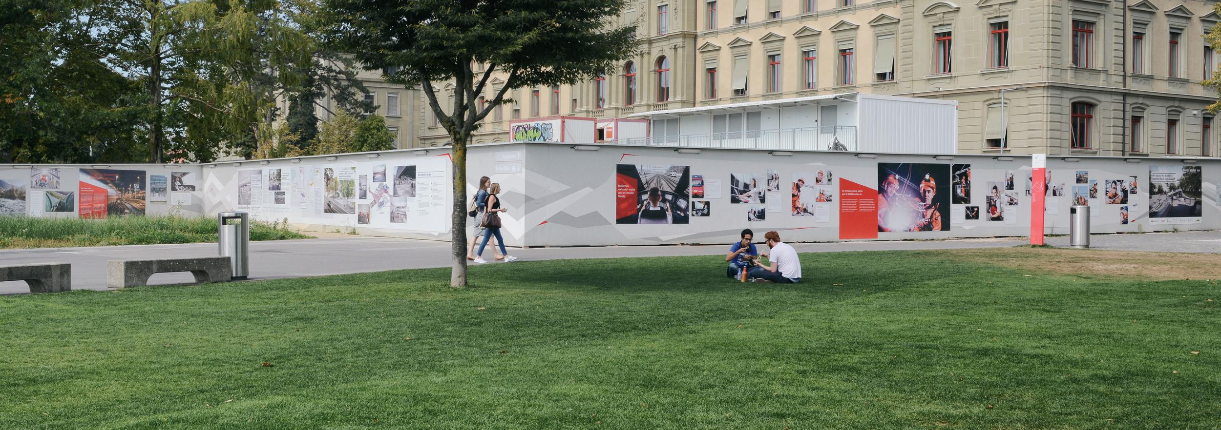 SBB – Gestaltung Bauwand Zukunft Bahnhof Bern