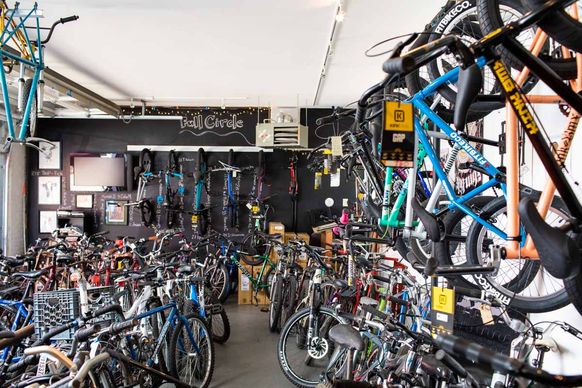 Full-service bike shop