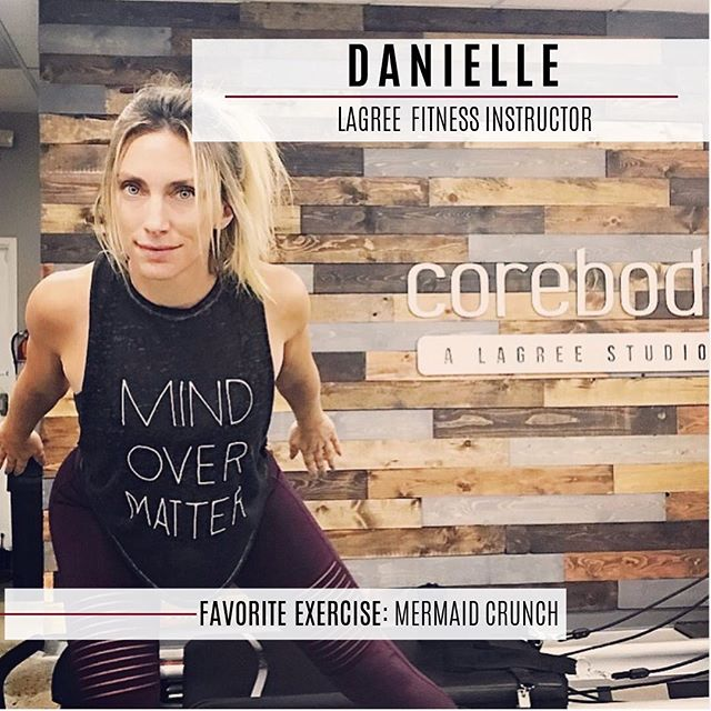 Meet Danielle, whose passion for fitness led her to Lagree after her, her husband and three children moved to San Diego. Originally from Chicago, Danielle is a technically trained, competitive dancer and performed as a Luvabell for the Chicago Bulls. She's AFFA certified in group fitness with a background in pilates, barre, strength training, kickboxing, and spin. . Danielle's background in group fitness lends itself to the energetic, motivating and encouraging style of her classes. She loves how Lagree Fitness focuses on core stabilization and balance which is key in preventing injuries and maintain postural alignment. . If you're looking for a workout that's going to be anything but ordinary, signup for one of Danielle's classes. #corebodypilatesplus